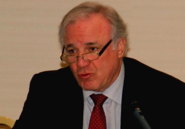 Juan Lazcano durante su intervención al término de la Asamblea General de ASEFMA de 21 de enero de 2014.