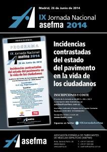 Anuncio IX Jornada ASEFMA