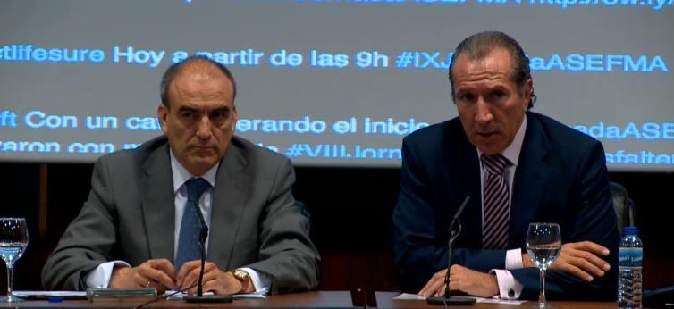 Juan José Potti, presidente de ASEFMA, y Manuel Niño, Secretario General de Infraestructuras, inauguran la IX Jornada Nacional de ASEFMA.