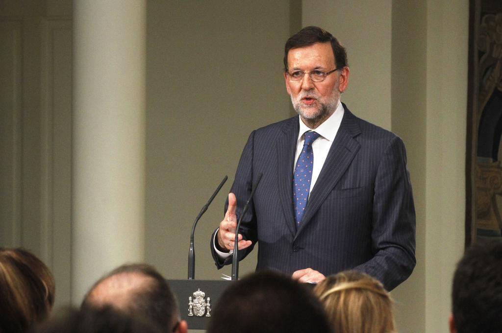 El presidente del Gobierno, Mariano Rajoy, comparece en rueda de prensa posterior al Consejo de Ministros donde se aprueban los PGE-2016. Fuente: lamoncloa.gob.es
