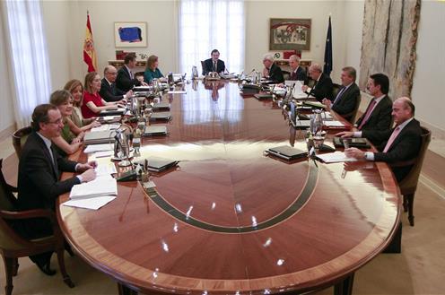 Consejo de Ministros celebrado el 31 de julio de 2015, en el que se aprobaron los PGE 2016. FUENTE: lamoncloa.gob.es