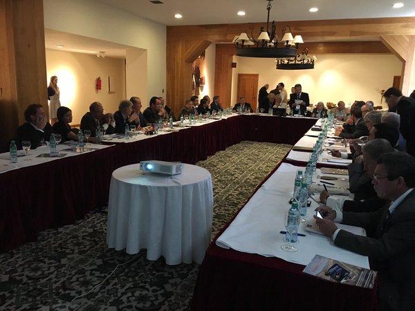 Fotografía de la reunión de delegados del CILA el 19 de noviembre de 2015 | Créditos: José Agüero R. en Twitter (@joseaguero222)