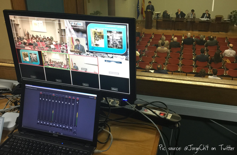 VI Jornada de Ensayos de ASEFMA vista por los técnicos de ITAFEC encargados de la retransmisión online del evento | Créditos: Jorge Chamizo, @JorgeCh4 en Twitter