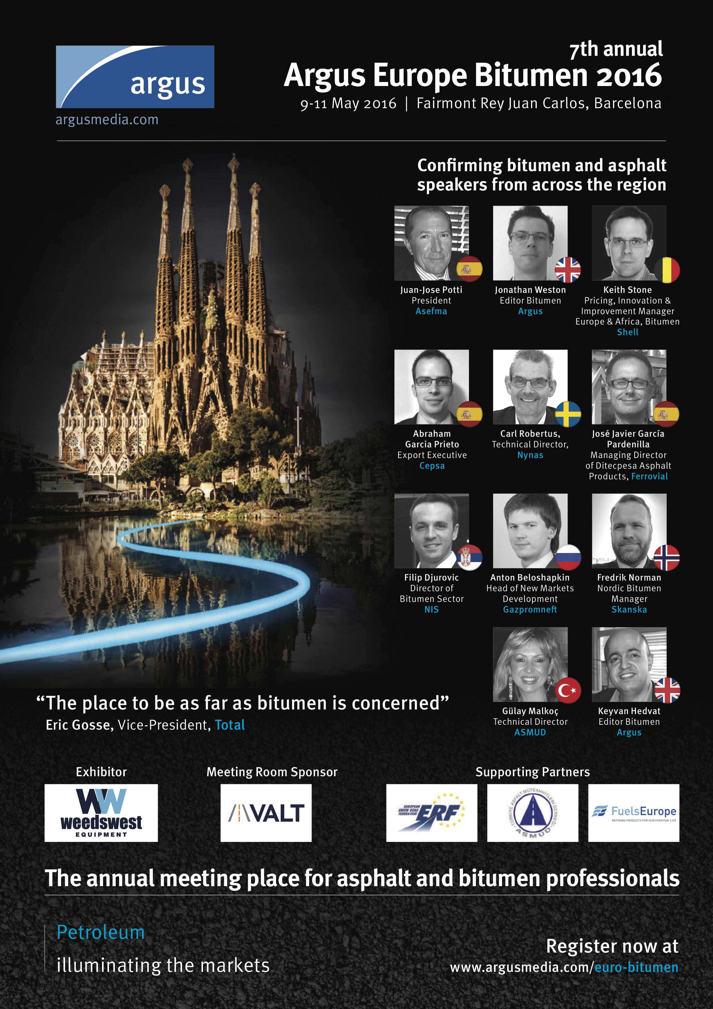 Agenda - Argus Europe Bitumen Conference 2016