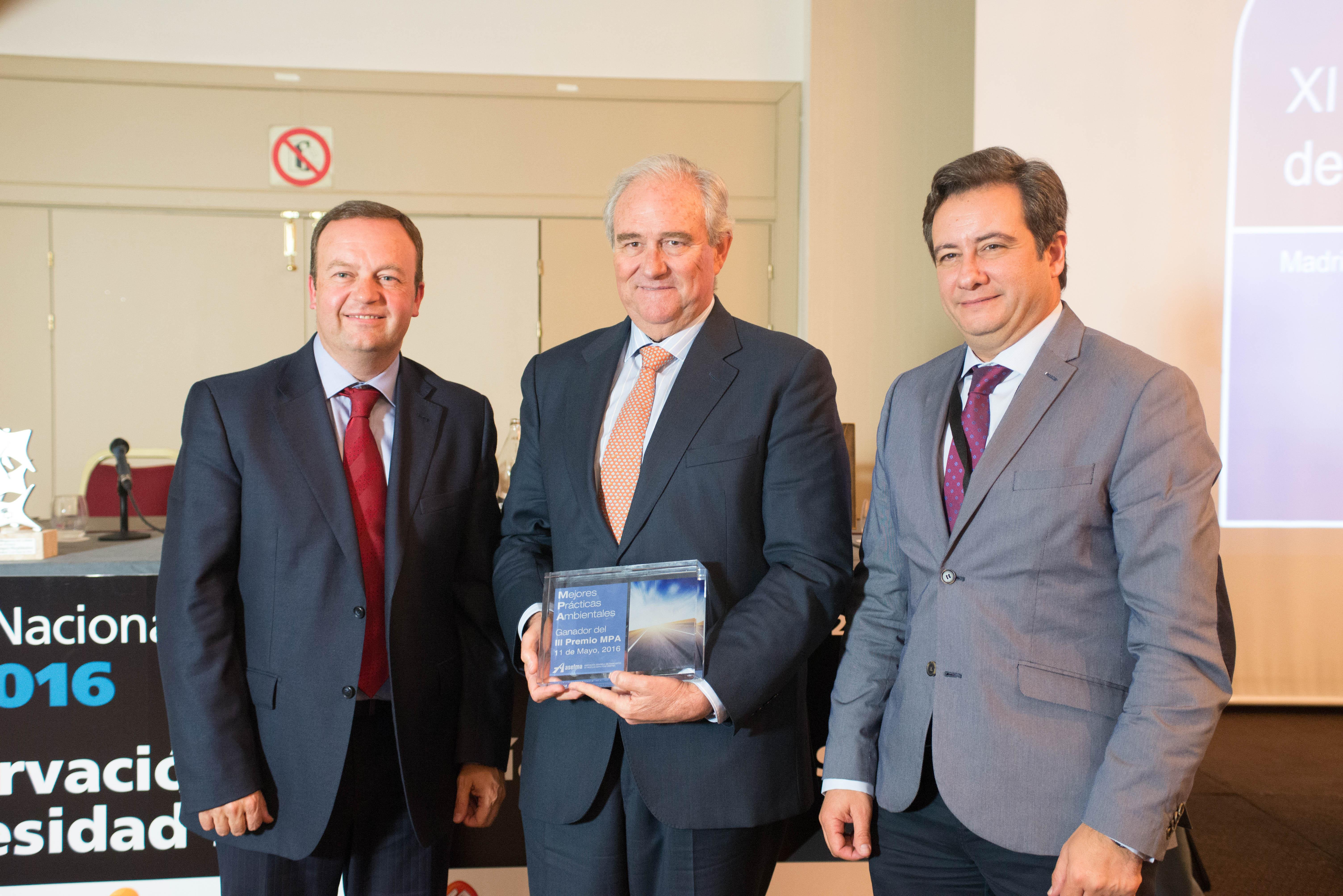 Galardonados del III Premio de ASEFMA a las mejores prácticas ambientales (MPA) en pavimentación asfáltica