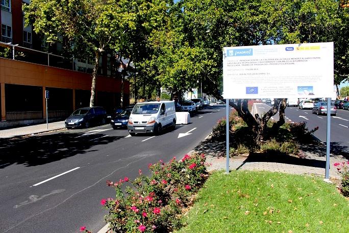 Medida ruido de rodadura tramos de ensayo en la calle Méndez Álvaro de Madrid con equipo CPX   Créditos: www.lifesure.es