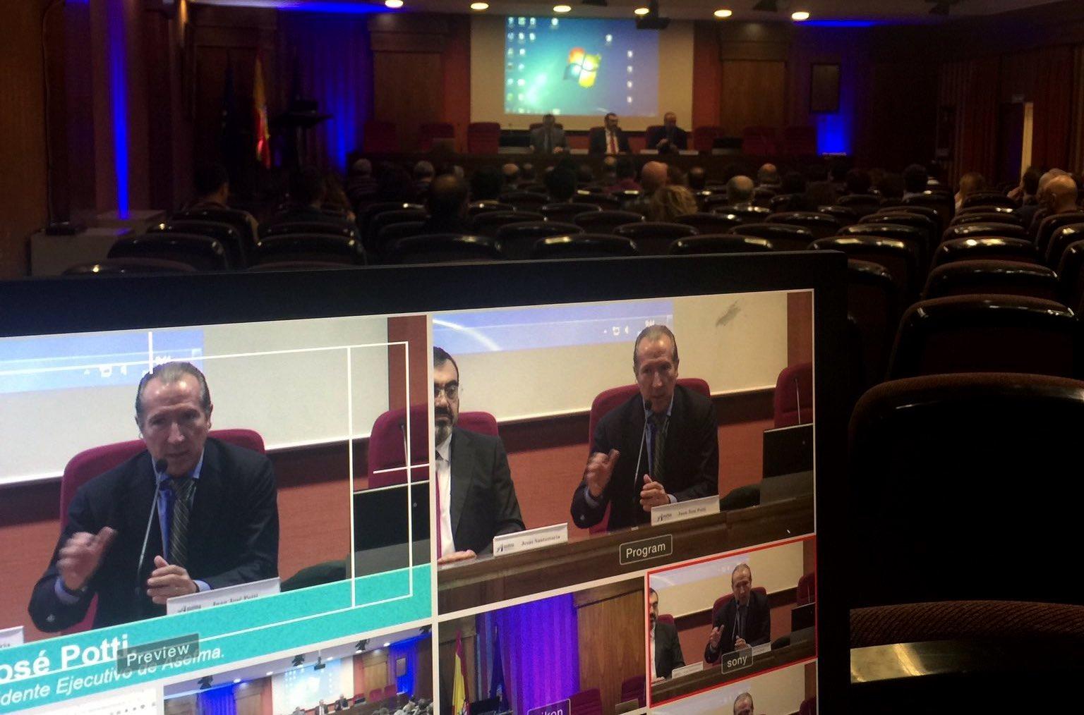 Retransmisión de la VII Jornada de ensayos de ASEFMA | Créditos: Jorge Chamizo, responsable técnico de ITAFEC, en Twitter.