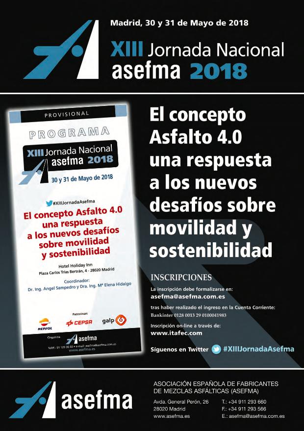 Anuncio de la XIII Jornada Nacional de ASEFMA