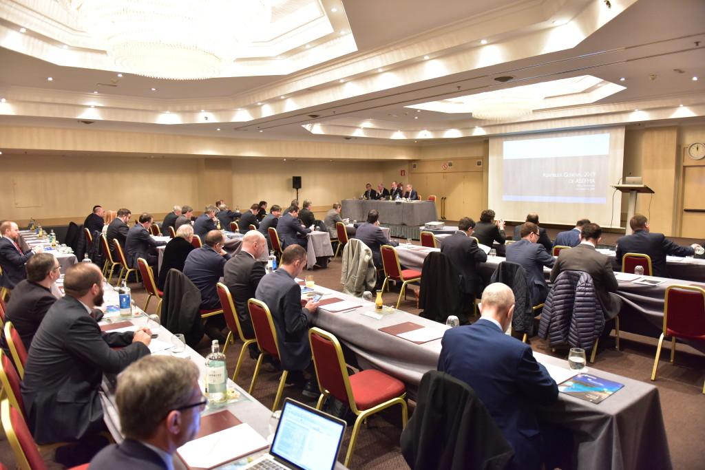 Vista de la Asamblea General de ASEFMA celebrada en Madrid el 7 de febrero de 2019